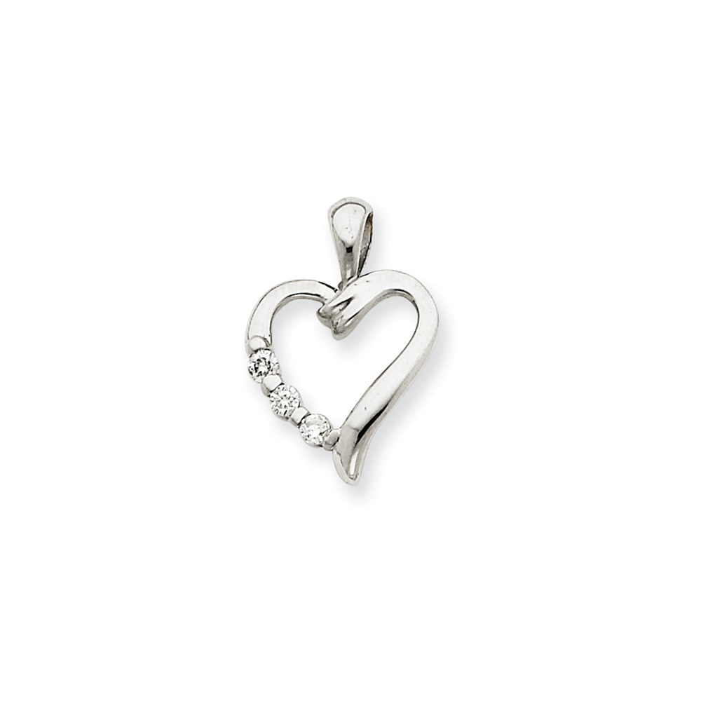 Jewelry Brothers 14k White Gold Heart Pendant Mounting