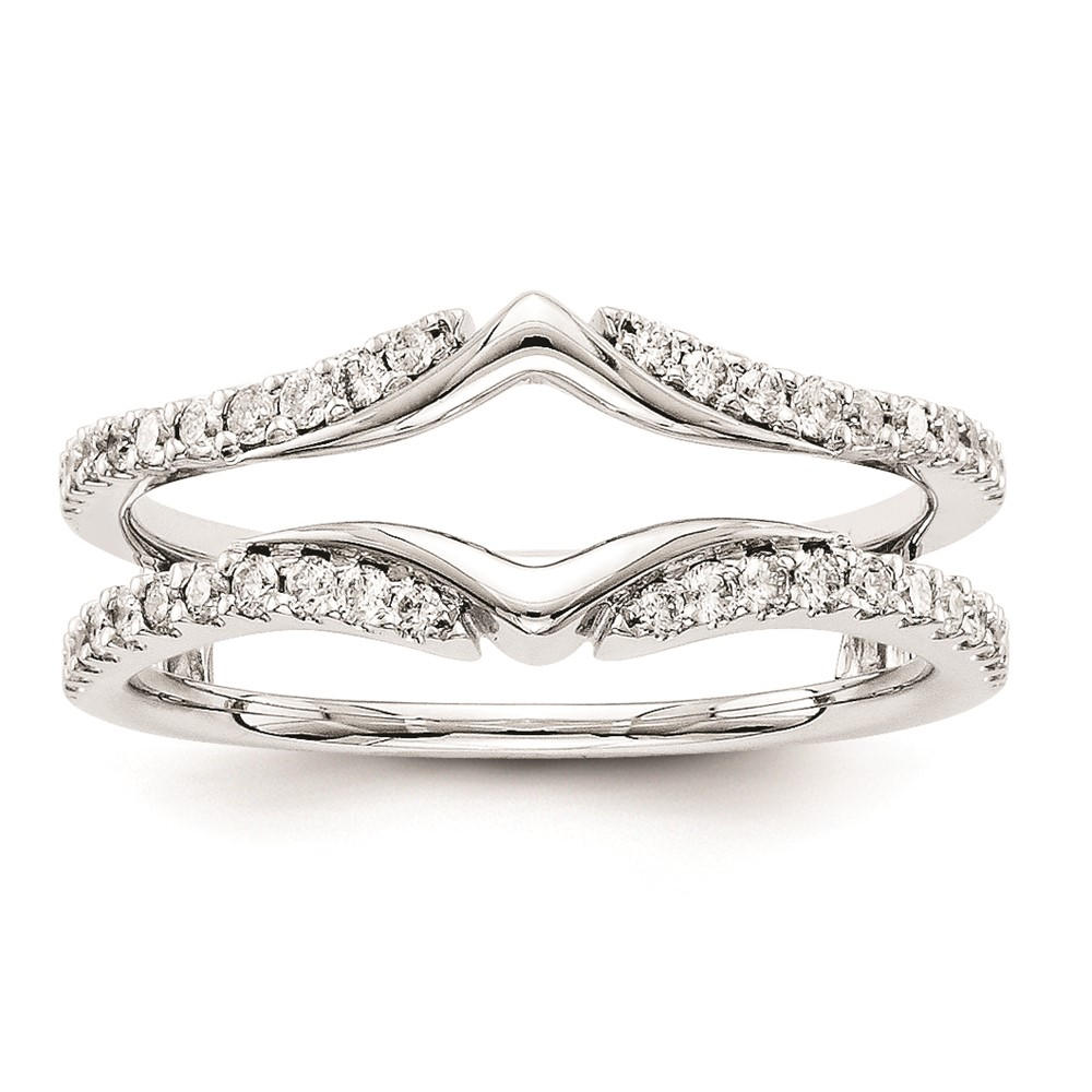 14k white gold ring wrap