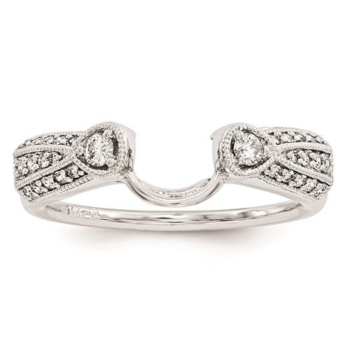 14k white gold ring wrap ebay