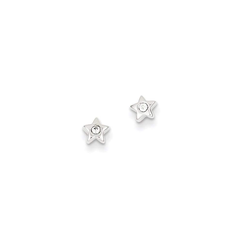 Jewelry Brothers 14k White Gold CZ Star Post Earrings at Sears.com