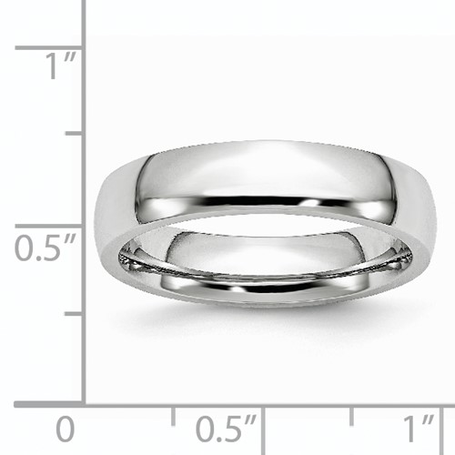 Chisel Cobalt Chromium Polished 5mm Band