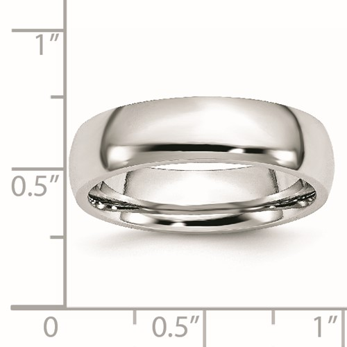 Chisel Cobalt Chromium Polished 6mm Band