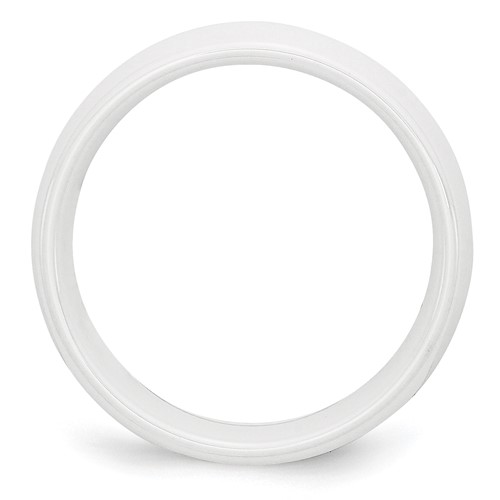 Chisel Ceramic White 8mm Polished Band