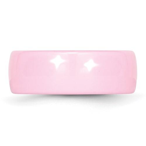 Chisel Ceramic Pink 8mm Polished Band