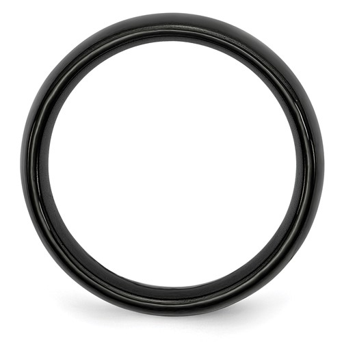 Chisel Black Ceramic 6mm Polished Band