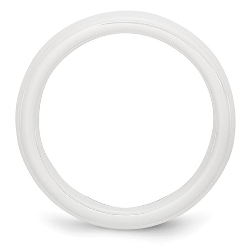 Chisel Ceramic White 4mm Polished Band