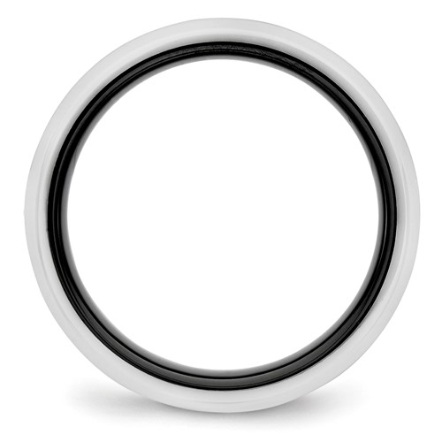 Ceramic Black and White 6.00mm Band