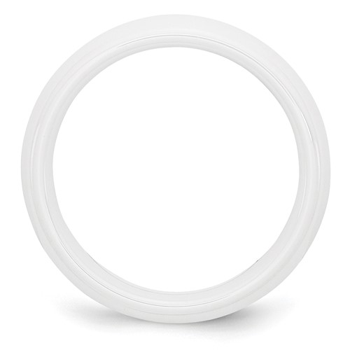 Chisel Ceramic White 6mm Polished Band