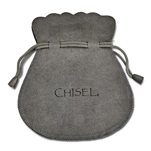 Chisel Stainless Steel Polished Circle Shepherd Hook Earrings