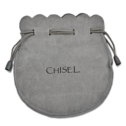 Chisel Stainless Steel Black Fabric with ID Plate Adjustable Bracelet