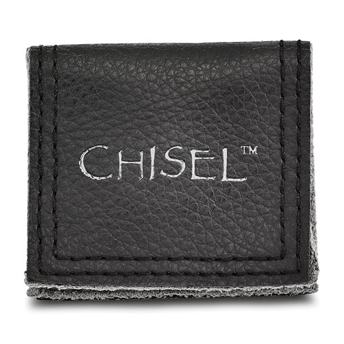 Chisel Stainless Steel 8mm Black IP-plated Brushed Flat Band