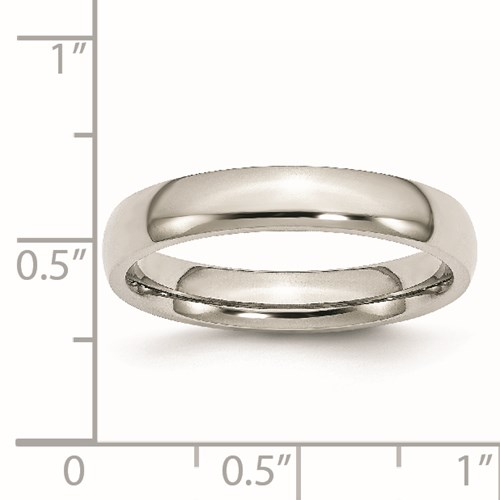 Chisel Stainless Steel 4mm Polished Band