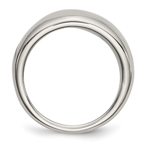 Chisel Stainless Steel Polished Ring