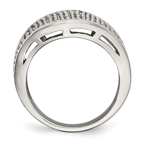 Chisel Stainless Steel Textured Ring