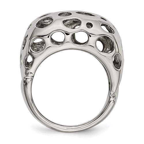 Chisel Stainless Steel Polished Circle Cut-out Ring