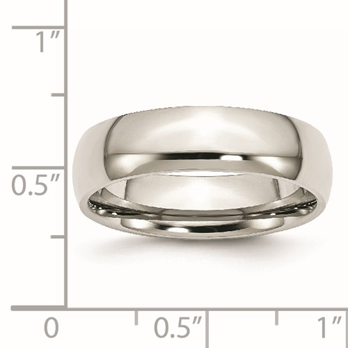 Chisel Stainless Steel 6mm Polished Band