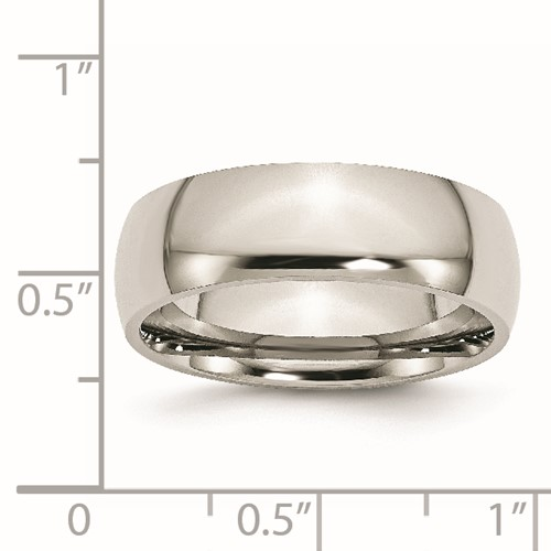 Chisel Stainless Steel 7mm Polished Band