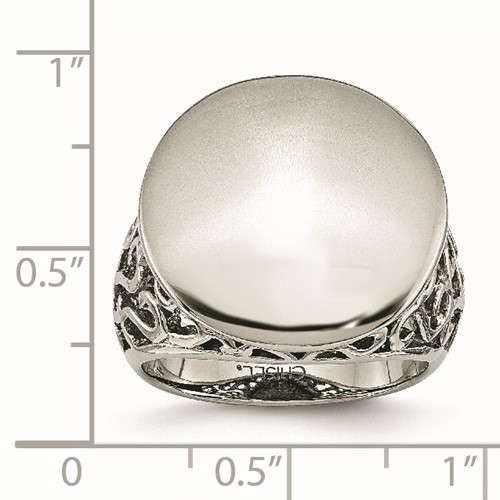Chisel Stainless Steel Polished Circle Ring