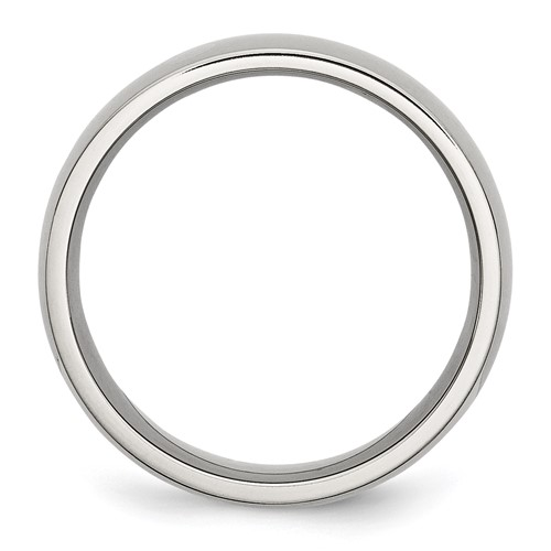 Chisel Stainless Steel 8mm Polished Band