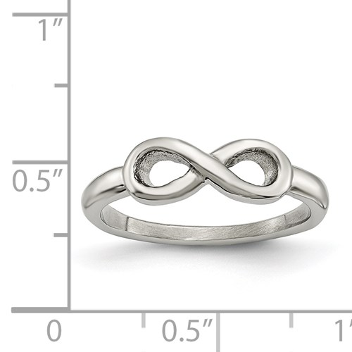 Chisel Stainless Steel Polished Infinity Symbol Ring