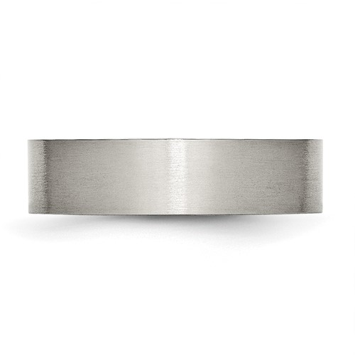 Chisel Stainless Steel Flat 6mm Brushed Band
