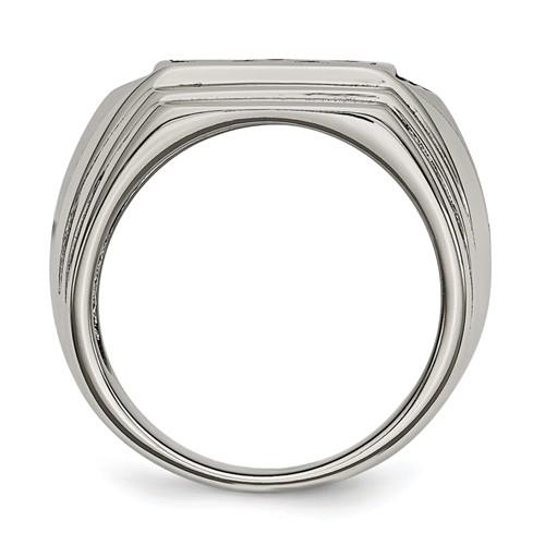 Chisel Stainless Steel Fleur de lis 10mm Polished Band