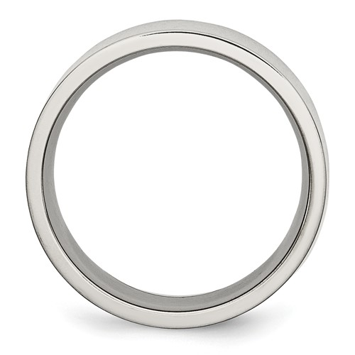 Chisel Stainless Steel Flat 8mm Polished Band