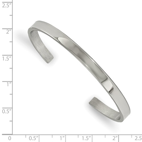 Stainless Steel Polished 5mm Cuff Bangle