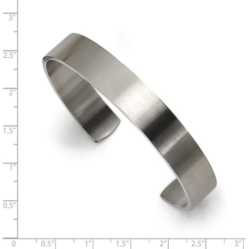 Chisel Stainless Steel Brushed Cuff Bangle