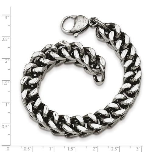 Chisel Stainless Steel Heavy Wheat 9.5 inch Bracelet