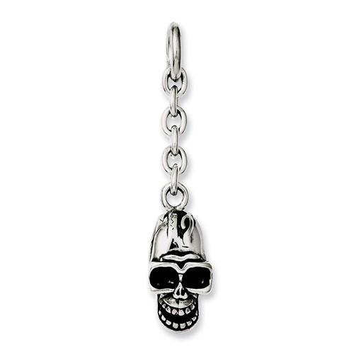 Chisel Stainless Steel Skull Interchangeable Charm Pendant