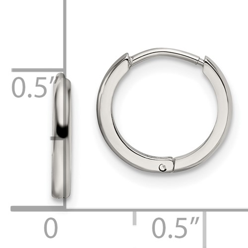 Stainless Steel Polished 11.80mm Endless Hinged Hoops