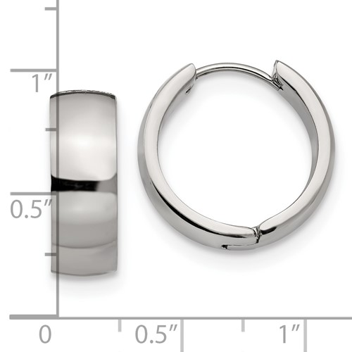Stainless Steel Hinged Hoop Earrings