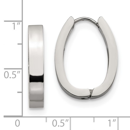 Stainless Steel Hinged Hoop Earrings