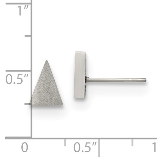 Chisel Stainless Steel Brushed Triangle Post Earrings