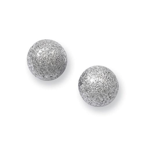 Chisel Stainless Steel Laser Cut 7mm Bead Post Earrings