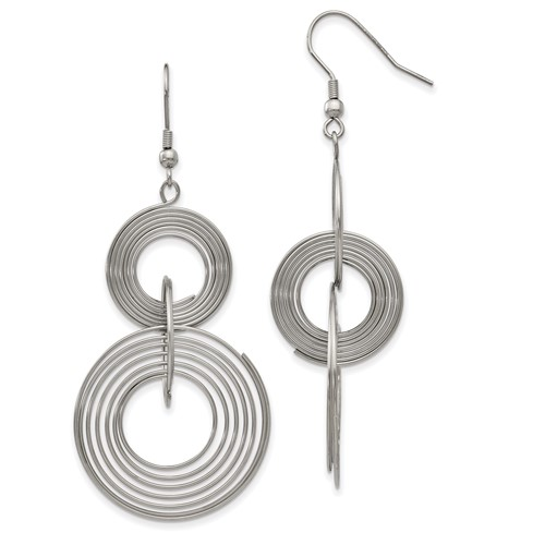Chisel Stainless Steel Multiple Circle Dangle Earrings