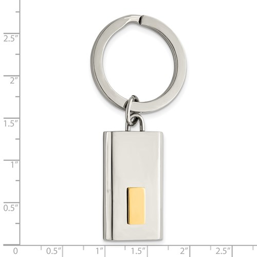 Chisel Stainless Steel 24k Gold-plated Key Chain