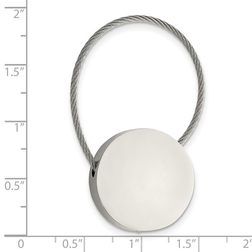 Stainless Steel Polished Cable Circle Key Ring
