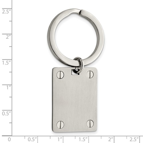 Stainless Steel Polished and Brushed Key Ring