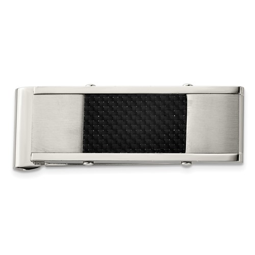 Chisel Stainless Steel Black Carbon Fiber Money Clip