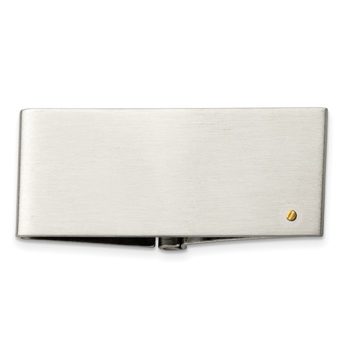 Chisel Stainless Steel 14k Gold Accent Screw Money Clip