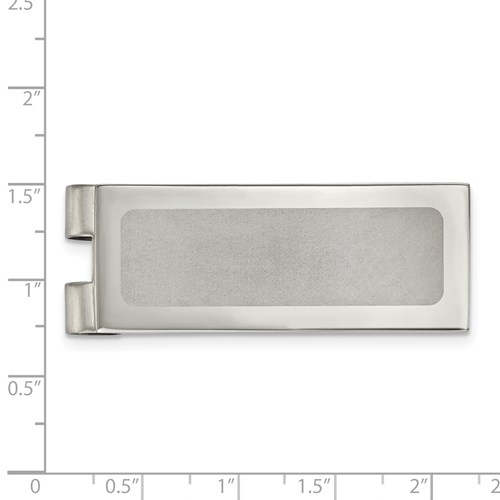 Stainless Steel Polished Laser Cut Center Money Clip