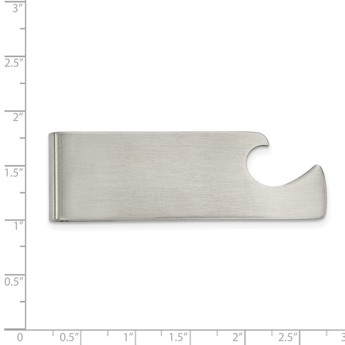 Stainless Steel Brushed Bottle Opener Money Clip