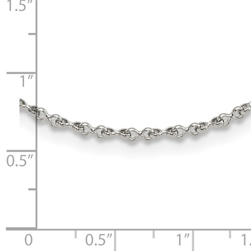 Stainless Steel Polished 2.0mm 20in Fancy Link Chain