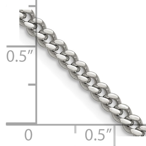 "Chisel Stainless Steel 4mm Curb 18"" Chain"