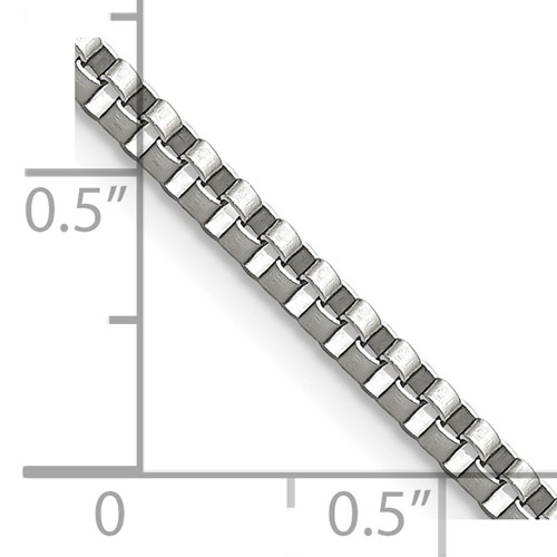 Chisel Stainless Steel 2.4mm 24 inch Box Chain