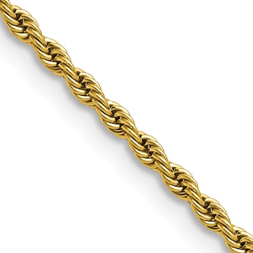 Chisel Stainless Steel Gold-plated 2.3mm 18 inch Rope Chain