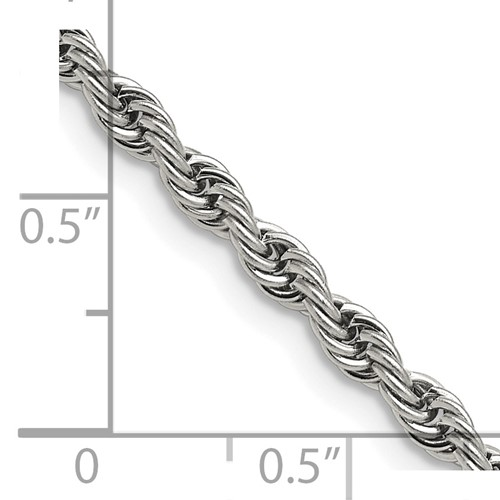 Chisel Stainless Steel 4.0mm 24 inch Rope Chain
