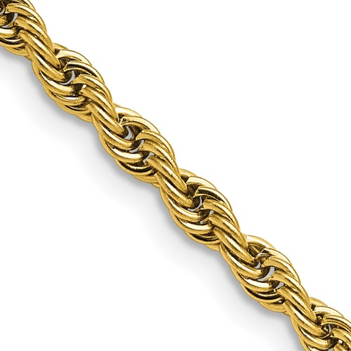 Chisel Stainless Steel Gold-plated 4.0mm 18 inch Rope Chain